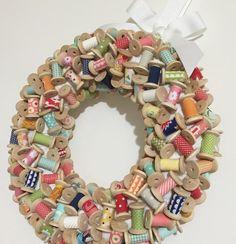 DIY Spool Wreath by Keera Job of LIVE.LOVE.SEW www.livelovesew.com.au 12 Days of Christmas Craft Tutorials