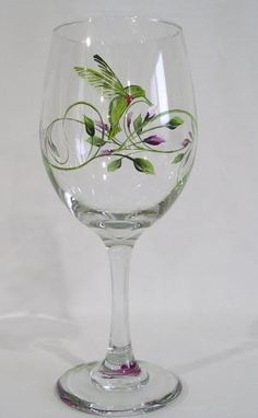 Humming Bird Wine Glass by hattie