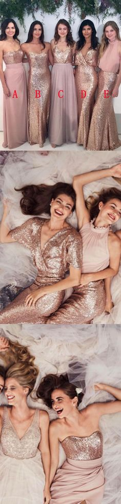 Attractive Floor-Length Bridesmaid Dress With Sequins, Sexy Bridesmaid Dress, Attractive Floor-Length Bridesmaid Dress With Sequins, Sexy Bridesmaid Dress, Affordable Bridesmaid Dresses, Mismatched Bridesmaid Dresses, Beautiful Bridesmaid Dresses, Bridesmaid Flowers, Gold Bridesmaids, Sexy Dresses, Prom Dresses, Bride Dresses, Sweet Dress