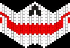 Joker Smile Gas Mask Bead Pattern