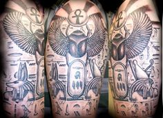 Egyptian Sleeve Tattoo | Waynes Egyptian Sleeve Sharron Caudill Northern Soul Tattoo