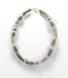 Evert Nijland, necklace - silver, glass, gold