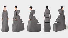 Minimalism-influenced fashion collection by Yuri Pardi.