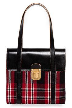 Red and Black tartan bag -  Marni 2012 Winter Collection