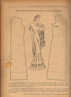 Vintage 1930s Dress Pattern Draft