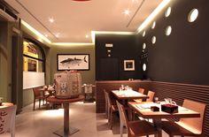 Ristorante Giapponese Shion Milano - HI LITE Next #lighting #design #fixtures #viabizzuno #m2 dn 70 #arco led