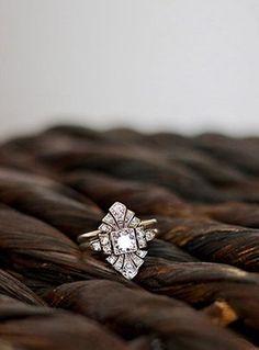 unique vintage antique wedding engagement rings