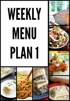 Weekly Menu Plan 1