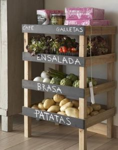 This is such a cool idea for the kitchen, or even the bathroom, or bedroom