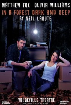 In a Forest, Dark and Deep - saw this play and met the actors afterwards. Matthew Fox, London Theatre, British, Deep, Actors, American, Fictional Characters, Play, Image