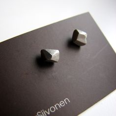 Facets small titanium post earrings