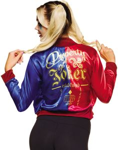 """Harley Quinn Jacket/Shirt - Includes adult jacket with """"Property of Joker"""" insignia and attached shirt."""