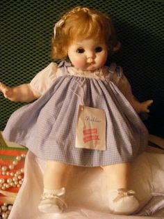 Madame Alexander RARE Puddin Doll 1965 Blonde Never Displayed Chubby Baby 18 In