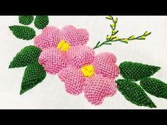 (64) Hand Embroidery:Leaf stitch - YouTube