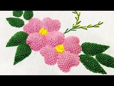 (64) Hand Embroidery:Leaf stitch - YouTube