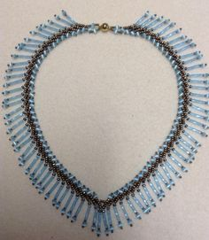 How to make a St. Petersburg fringe necklace  #Seed #Bead #Tutorials