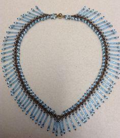 How to make a fringe necklace. St. Petersburg fringe necklace tutorial