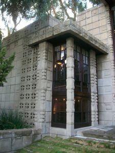 Storer House. Frank Lloyd Wright, West Hollywood, California. 1923. Textile Block Period.