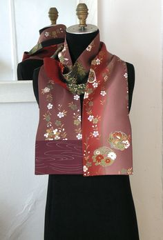 Silk Kiono Scarf Amazing Japanese Vintage Versitile by Wabiske