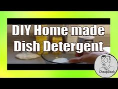 Make Home Made Dish Washing Detergent..DIY for Cheap!!