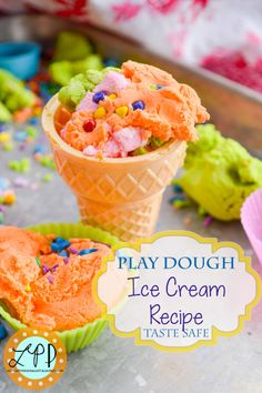 Play Dough Ice Cream Recipe for Sensory Play -