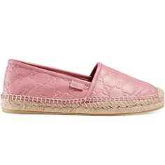 a02d9e18ede6 Gucci Gucci Signature Leather Espadrille (4.932.065 IDR) ❤ liked on  Polyvore featuring shoes, sandals, espadrilles   wedges, light pink, women,  ...