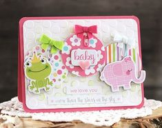 Bella Blvd Sweet Baby Girl collection. Baby card by creative team member Laurie Schmidlin.