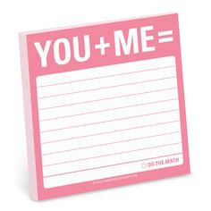 Knock Knock You + Me = Sticky Notes are cute sticky notes & Valentines Day gift idea for him. Fun gift ideas for that special someone—or total stranger!