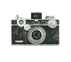 vintage camera watercolor giclee art print // ARGUS camera // home decor -- wall art by eastashleystudio on Etsy Camera Clip Art, Camera Drawing, Camera Painting, Camera Sketches, Camera Logo, Concours Photo, Vintage Cameras, Antique Cameras, Art Design