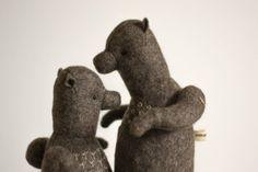 ForestMisha  Artist Teddy Bear  Felt Stuffed by annapavlovna, $99.00