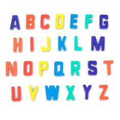 Develop observation skills with your three-year-old using a collection of colorful uppercase letters. Invite your child to sort, match and play as you talk about the differences you see. Find more alphabet activities at readingbrightstart.org