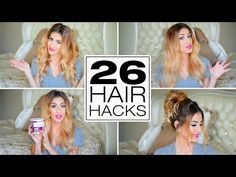 26 Lazy Girl Hair Hacks You Need To Know! - YouTube