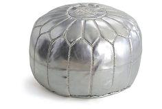 Moroccan Pouf, Silver on OneKingsLane.com $199