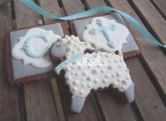 lamb and christening cookies
