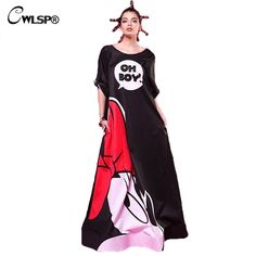 36ef01b9653397 Cheap long maxi, Buy Quality sleeve dress directly from China maxi dress  Suppliers: CWLSP Women Evening Party Long Maxi Dress 2017 Spring Mouse  Printed Long ...