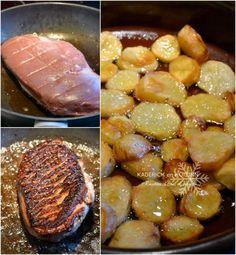 Cuisson magret de canard poêle pommes terre graisse de canard