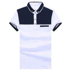 Slim Fit hombres moda camisas de Polo talla M 2XL da vuelta abajo diseño hombre del algodón del verano camisetas ropa de manga corta para hombre en Polos de Moda y Complementos Hombre en AliExpress.com | Alibaba Group