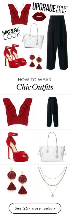 """""""Untitled #17"""" by vanessa-faria-1 on Polyvore featuring MICHAEL Michael Kors, Jessica Simpson, Boohoo, STELLA McCARTNEY and Luv Aj Luv Aj, Night Out Outfit, Chic Outfits, Boohoo, Stella Mccartney, Bedroom Ideas, Polyvore, Michael Kors, Shoe Bag"""