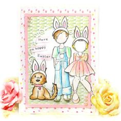 Here is a sweet Easter card you can whip up with Julie Nutting Stamps and water color pencils.  There's also a 5 min video.