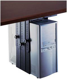 Humanscale Desktop CPU Computer Tower Dolly Cart Gaming Black