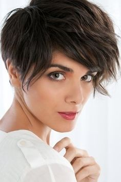 Women Undercut Hair Cut | Short summer hairstyles include layered pixie cuts, layered haircuts ...