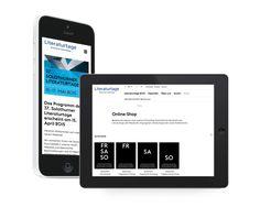 Solothurner Literaturtage  Responsive/mobile Website, Design & Development fugu GmbH Shops, How To Make, Design, Landing Pages, Literature, Tents, Retail, Design Comics