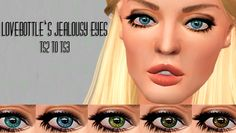 let them eat burnt waffles: lovebite's jealousy eyes #sims3 #sims3cc