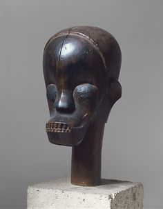 Sculptural Element from a Reliquary Ensemble: Head   Fang peoples, Betsi group