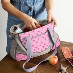 Nähpaket Schnabelina Bag grau - rosa - grau