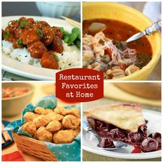 From Olive Garden's Italian soup to PF Chang's Orange Chicken, make your restaurant favorites at home!