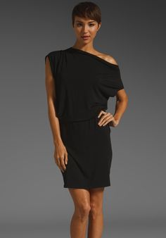 MICHAEL STARS Modal Spandex Jersey Delfina One Shoulder Dress in Black at Revolve Clothing - Free Shipping!