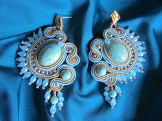 turquoise earrings by elesoutache on Etsy