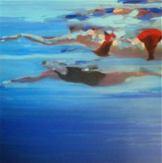 Elizabeth Lennie / Lap Swim / Affordable Artwork / Canadian Art / Gallery / Framing / Canvas / Art Interiors - Toronto, ON