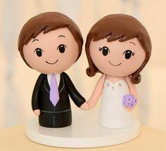 Kokeshi Cake Topper  Wooden Wedding Cake by CakeToppersStudio, $79.00